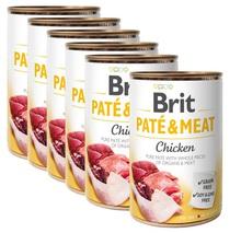 BRIT Pate&Meat Chicken 6x400g PAKIET! mokra karma z kurczakiem dla psa