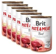 BRIT Pate&Meat Beef 6x400g PAKIET! mokra karma z wołowiną dla psa