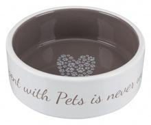TRIXIE Ceramiczna miska Pet's Home, ciemnoszara