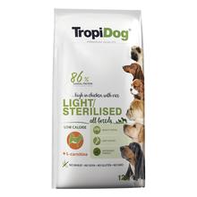 TROPIDOG Premium Light/Sterilised - karma dla psów wszystkich ras 2,5kg i 12 kg