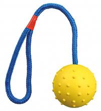 TRIXIE Kauczukowa piłka na sznurku dla psa