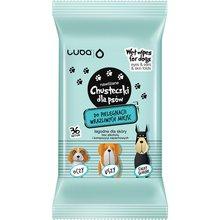 LUBA - chusteczki nawilżane dla psów, do miejsc wrażliwych (oczy, uszy, pysk, fałdki skórne), 30 szt.