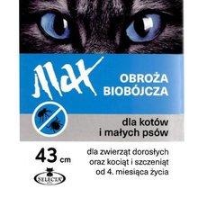SELECTA MaxBIOCIDE - obroża biobójcza dla kotów i małych psów, niebieska, 43 cm