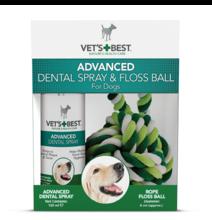 VET'S BEST Dental Spray 120ml + kula sznurowa dla psów