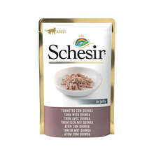 SCHESIR Tuńczyk z komosą ryżową mokra karma dla kotów 100g saszetka