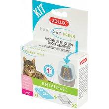 ZOLUX Pure Cat Fresh - zapasowe wkłady do pojemnika pochłaniacz zapachów do kuwety na 1 miesiąc