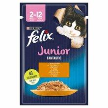 Felix Fantastic JUNIOR - saszetka dla kociąt z kurczakiem w galaretce, 85g