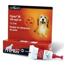 FIPREX - krople przeciwko pchłom i kleszczom dla psów M, jedna tubka 2ml