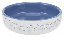TRIXIE Miska dla kotów ras krótkopyskich w kolorze jasnoniebieskim