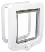 TRIXIE Dwustronne drzwiczki wahadłowe 2-Way, 20 x 22 cm białe