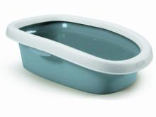 ZOLUX SPRINT 10 Kuweta z obrzeżem, kolor pudrowy niebieska