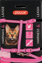 ZOLUX Zestaw spacerowy dla kota w kolorze różowym