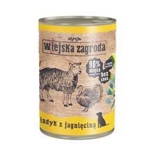 Wiejska Zagroda Indyk z jagnięciną 400g mokra karma dla psa