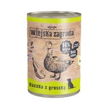 Wiejska Zagroda Kaczka z gruszką 400g mokra karma dla psa