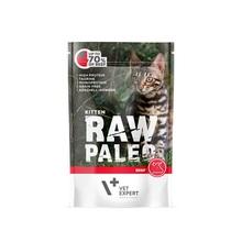 VETEXPERT Raw Paleo Kitten Wołowina mokra karma dla kociąt, 100g