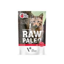 VETEXPERT Raw Paleo Sterilised Wołowina mokra karma dla kotów, 100g