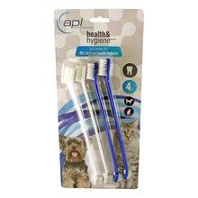 APL - szczoteczki do czyszczenia zębów u psów i kotów, zestaw 4 sztuk