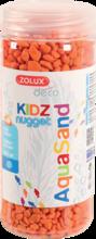 ZOLUX Aquasand KIDZ Nugget - podłoże do akwarium, kolor pomarańczowy 500 ml