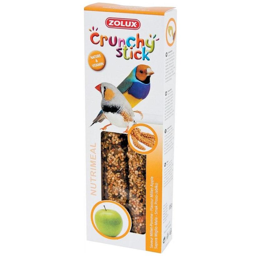 ZOLUX Crunchy Stick ptaki egzotyczne proso/jabłko - kolby dla ptaków egzotycznych 85 g
