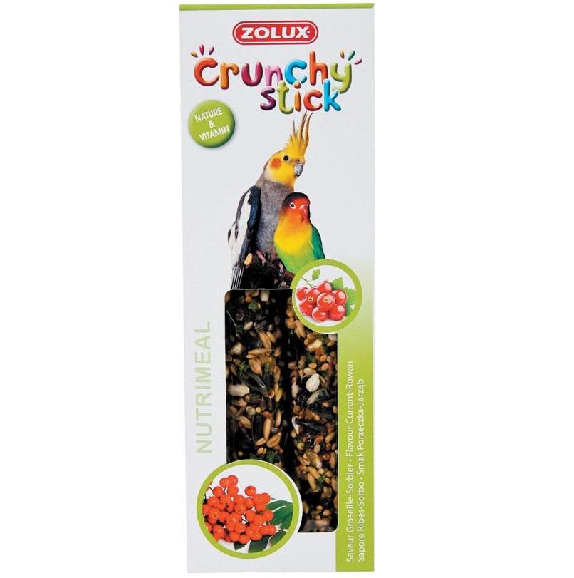 ZOLUX Crunchy Stick duże papugi porzeczka/jarzębina - kolby dla dużych papug 115 g
