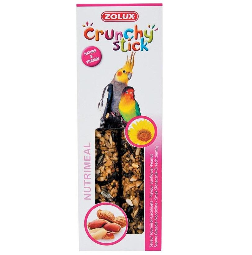 ZOLUX Crunchy Stick duże papugi słonecznik/orzech ziemny - kolby dla dużych papug 115 g