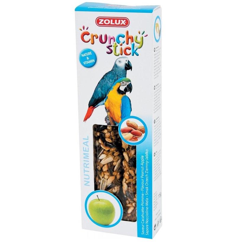 ZOLUX Crunchy Stick papuga orzech ziemny/jabłko - kolby dla papug 115 g