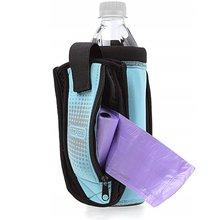 Dexas - neoprenowa saszetka na butelkę z dodatkową kieszonką i składaną miską w zestawie, turkusowa