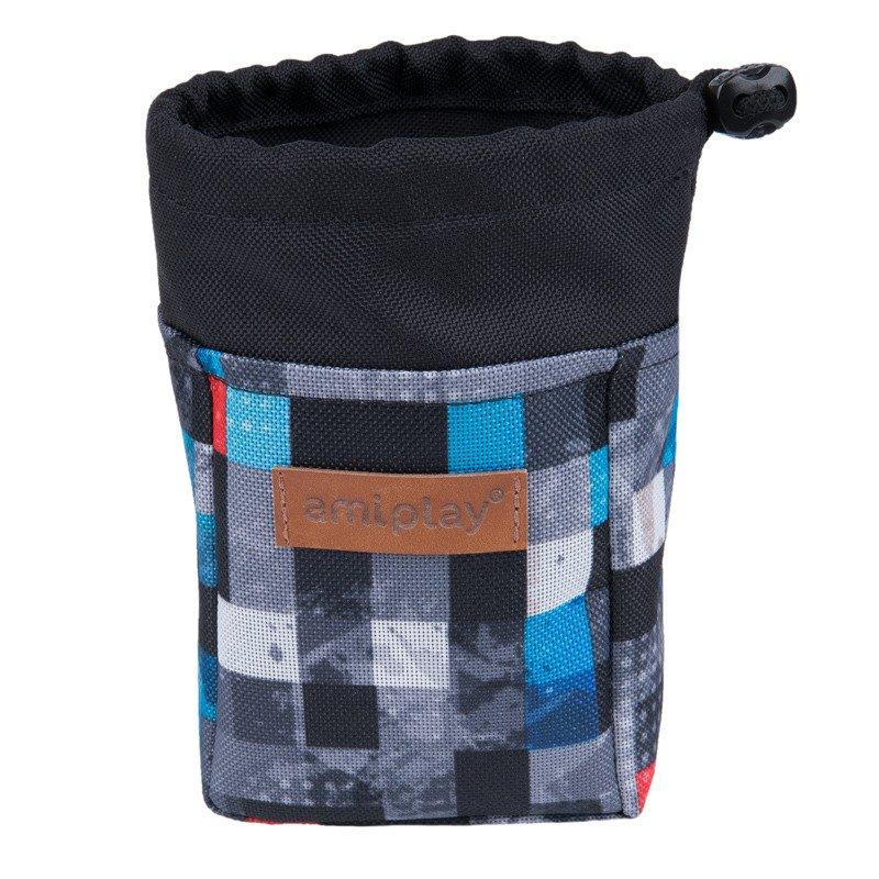 Amiplay - torebka na smakołyki, Adventure, wzór kostka