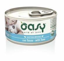 Oasy Mousse z Tuńczykiem - mokra karma dla kotów, puszka 85g