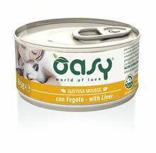 Oasy Mousse z Wątróbką - mokra karma dla kotów, puszka 85g