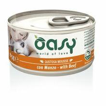 Oasy Mousse z Wołowiną - mokra karma dla kotów, puszka 85g