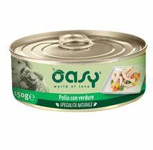 Oasy Natural Kurczak z warzywami - mokra karma dla psa, puszka 150g