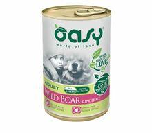 Oasy One Protein Dzik - monobiałkowa, mokra karma dla psa, puszka 400g