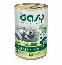 Oasy One Protein Królik - monobiałkowa, mokra karma dla psa, puszka 400g