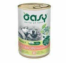 Oasy One Protein Łosoś - monobiałkowa, mokra karma dla psa, puszka 400g