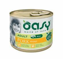 Oasy One Protein, Adult Mini Wieprzowina - monobiałkowa, mokra karma dla psów ras małych, puszka 200g