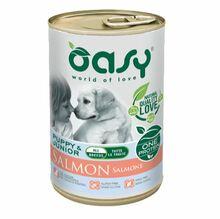 Oasy One Protein, Puppy Junior Łosoś - monobiałkowa, mokra karma dla szczeniąt, puszka 400g