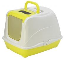 Pet Nova CAT LIFE PLUS - Toaleta dla kota 50cm, kolor żółty