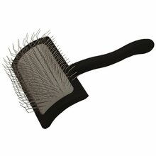 Chris Christensen Big K Medium Slicker Brush - średnia szczotka pudlówka, czarna