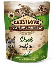 CARNILOVE DOG POUCH DUCK&TIMOTHY GRASS - Mokra karma dla psa, saszetka 300G