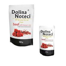 DOLINA NOTECI PREMIUM PURE Wołowina z brązowym ryżem - Karma pełnoporcjowa dla dorosłych psów, saszetka