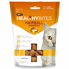 Vetiq Healthy Bites Hairball Remedy For Cats & Kitten - Przysmaki dla kotów i kociąt Kule włosowe, 65g