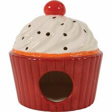 Zolux Domek ceramiczny Ciastko, kolor czerwony