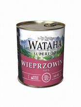 WATAHA Superfood 100% Wieprzowina mokra karma dla psa, puszka 410g i 850g
