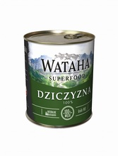 WATAHA Superfood 100% Dziczyzna mokra karma dla psa, puszka 410g i 850g