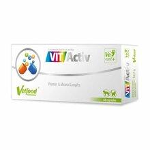 Vet Food VITActiv - zbilansowany zestaw witamin i minerałów dla psów i kotów, 60 kaps.