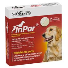 Vet-Agro InPar - tabletki na odrobaczenie dla psów, 2 szt