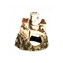 AQUANOVA Ruiny zamku na skale - Ceramiczna OZDOBA DO AKWARIUM