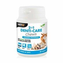VetIQ 2in1 Denti-Care Chews - pasta do zębów w tabletkach do żucia, 30 tabletek