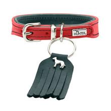 HUNTER Skórzana obroża dla psa Lucca Petit w czerwonym kolorze